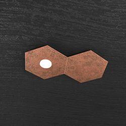 Plafoniera Top Light Hexagon Led Foglia Rame 1142/1L1D FR