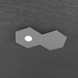 Plafoniera Top Light Hexagon Led Grigio Antico 1142/1L1D GA