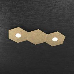 Plafoniera Top Light Hexagon Led Foglia Oro 1142/2L1D FO A2