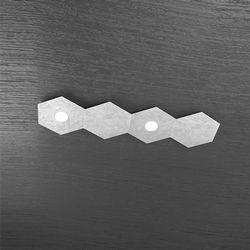 Plafoniera Top Light Hexagon Led Argento 1142/2L2D FA A1