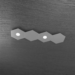Plafoniera Top Light Hexagon Led Grigio A 1142/2L2D GA A1