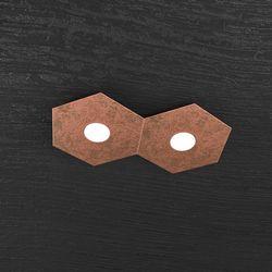 Plafoniera Top Light Hexagon Led Foglia Rame 1142/2L FR