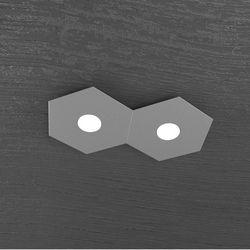 Plafoniera Top Light Hexagon Led Grigio Antico 1142/2L GA