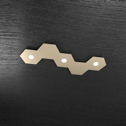Plafoniera Top Light Hexagon Led Sabbia 1142/3L2D SA A3