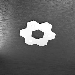 Plafoniera Top Light Hexagon Led Bianco 1142/3L3D BI A2