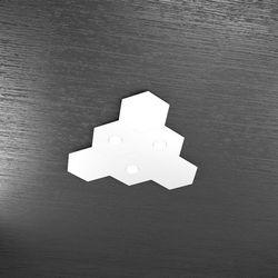 Plafoniera Top Light Hexagon Led Bianco 1142/3L3D BI A4