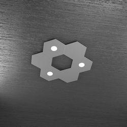 Plafoniera Top Light Hexagon Led Grigio A 1142/3L3D GA A2
