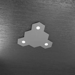 Plafoniera Top Light Hexagon Led Grigio A 1142/3L3D GA A3
