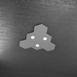 Plafoniera Top Light Hexagon Led Grigio A 1142/3L3D GA A4