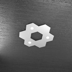 Plafoniera Top Light Hexagon Led Grigio 1142/3L3D GR A2