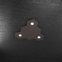 Plafoniera Top Light Hexagon Led Marrone 1142/3L3D MA A3