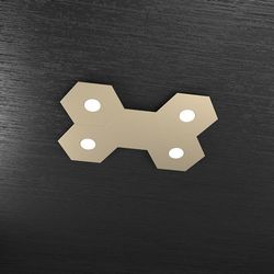 Plafoniera Top Light Hexagon Led Sabbia 1142/4L1D SA