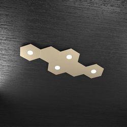 Plafoniera Top Light Hexagon Led Sabbia 1142/4L2D SA A2