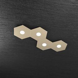 Plafoniera Top Light Hexagon Led Sabbia 1142/4L SA A2