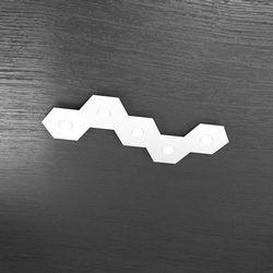 Plafoniera Top Light Hexagon Led Bianco 1142/5L BI A4