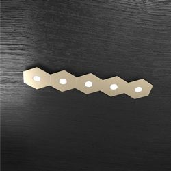 Plafoniera Top Light Hexagon Led Sabbia 1142/5L SA A1