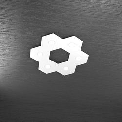 Plafoniera Top Light Hexagon Led Bianco 1142/6L BI A3