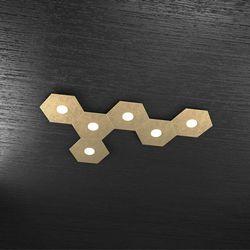 Plafoniera Top Light Hexagon Led Foglia Oro 1142/6L FO A7