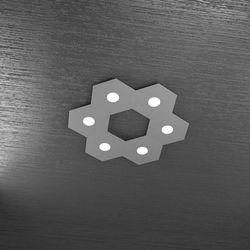 Plafoniera Top Light Hexagon Led Grigio Antico 1142/6L GA A3