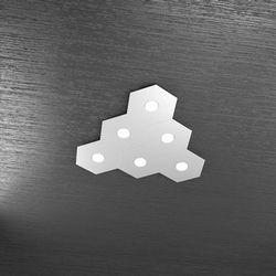 Plafoniera Top Light Hexagon Led Grigio 1142/6L GR A4