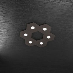 Plafoniera Top Light Hexagon Led Marrone 1142/6L MA A3