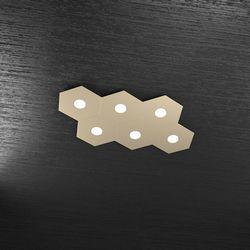 Plafoniera Top Light Hexagon Led Sabbia 1142/6L SA A2
