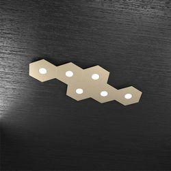 Plafoniera Top Light Hexagon Led Sabbia 1142/6L SA A5