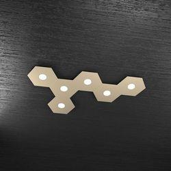 Plafoniera Top Light Hexagon Led Sabbia 1142/6L SA A7