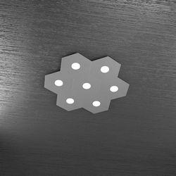 Plafoniera Top Light Hexagon Led Grigio Antico 1142/7L GA