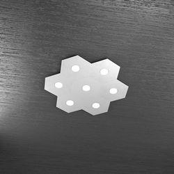 Plafoniera Top Light Hexagon Led Grigio 1142/7L GR