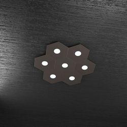 Plafoniera Top Light Hexagon Led Marrone 1142/7L MA