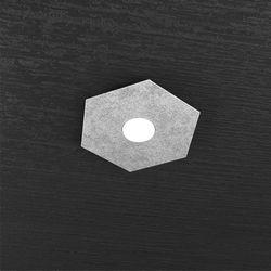 Plafoniera Top Light Hexagon Led Foglia Argento 1142/1L FA