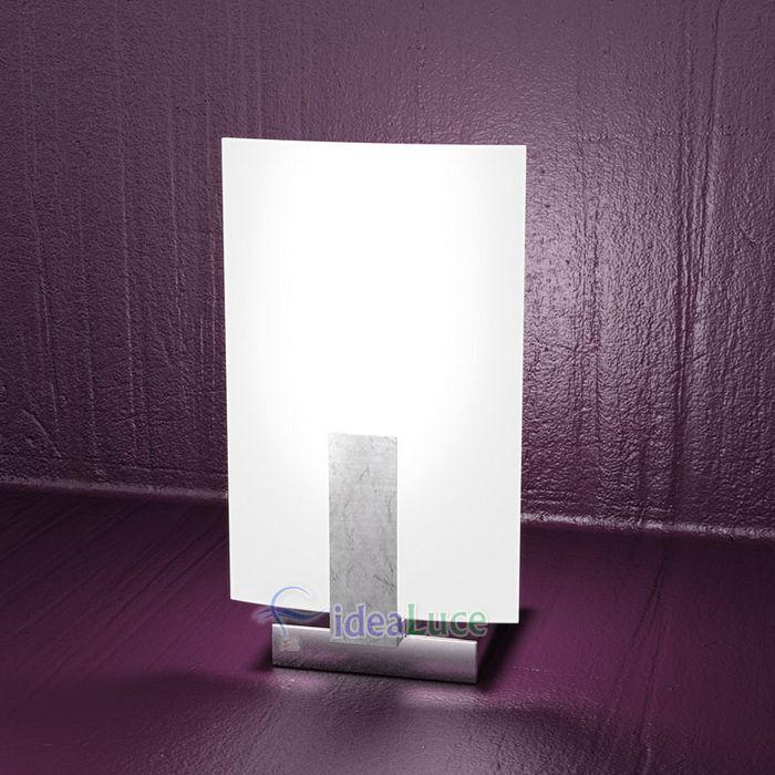Lampada da Tavolo Top Light Wood Foglia Argento 1019/P FA