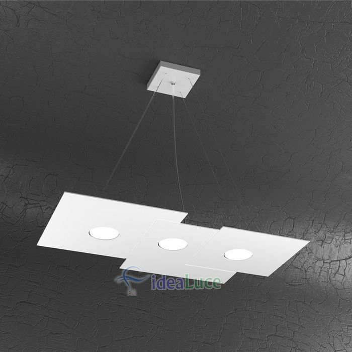 Sospensione Top Light Plate Led Bianca 1129/S3 R BI