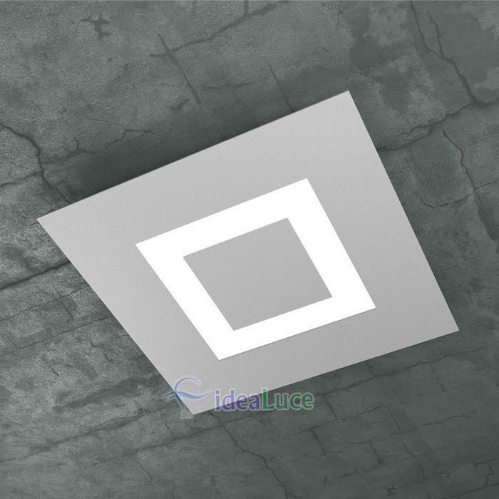 Plafoniera Top Light Carpet Led Grigia 1137/40 GR