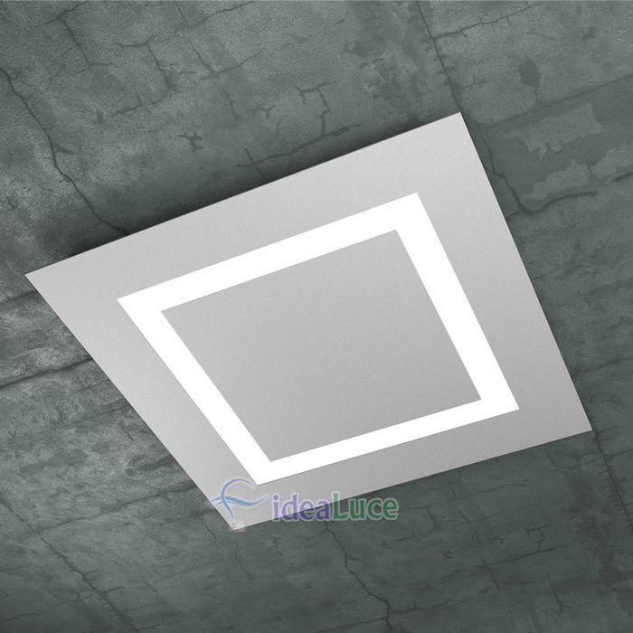 Plafoniera Top Light Carpet Led Grigia 1137/60 GR