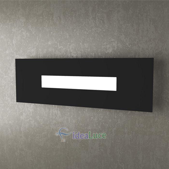 Lampada da Parete Top Light Wally Led Nera 1138/50 NE