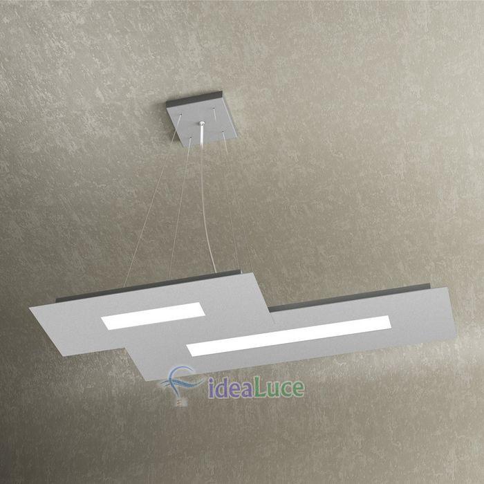 Sospensione Top Light Wally Led Grigia 1138/S2 Gr