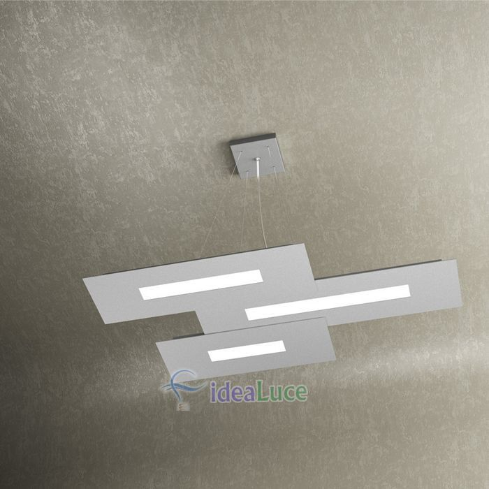 Sospensione Top Light Wally Led Grigia 1138/S3 Gr