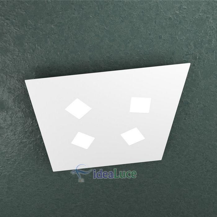 Plafoniera Top Light Note Led Grigia 1140/4 GR