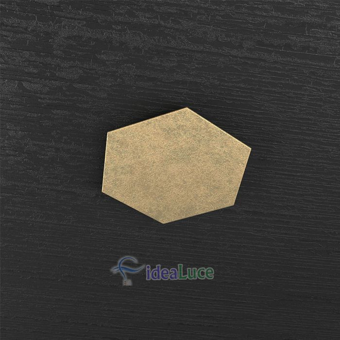 Plafoniera Top Light Hexagon Led Foglia Oro 1142/1D FO